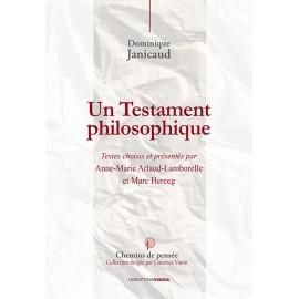Un Testament philosophique